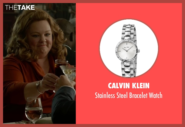 Calvin Klein silver watch from Spy seen with Melissa McCarthy (Susan Cooper)