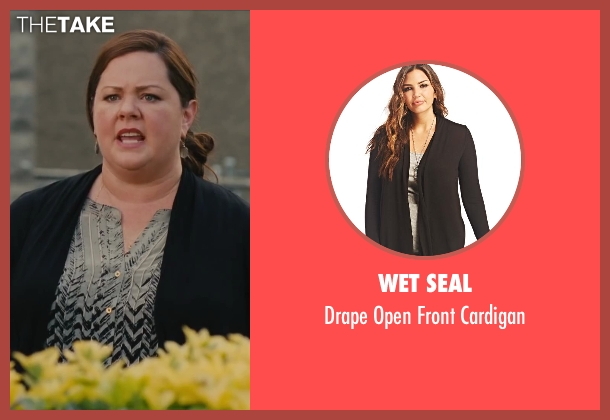 Wet Seal black cardigan from St. Vincent seen with Melissa McCarthy (Maggie)