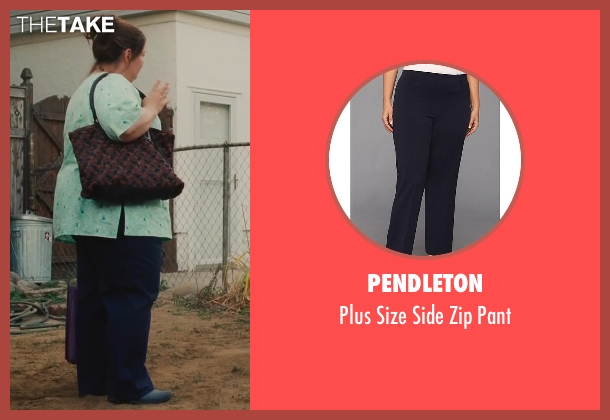 Pendleton blue pant from St. Vincent seen with Melissa McCarthy (Maggie)
