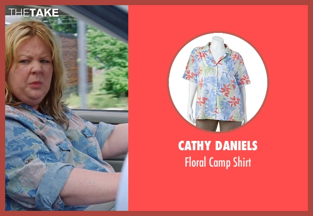 Cathy Daniels blue shirt from Tammy seen with Melissa McCarthy (Tammy)