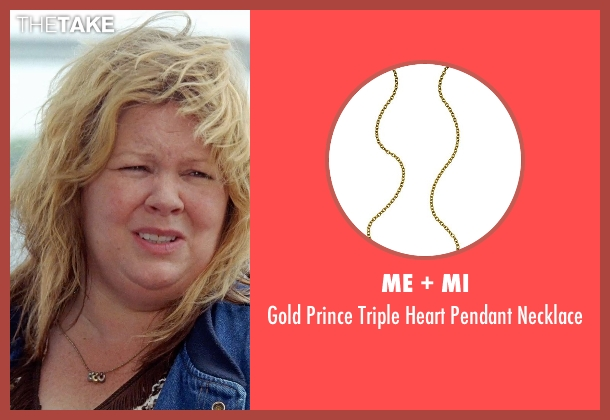 Me + Mi gold necklace from Tammy seen with Melissa McCarthy (Tammy)