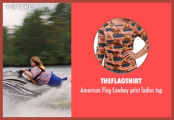 Theflagshirt top from Tammy seen with Melissa McCarthy (Tammy)