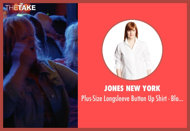 Jones New York white blouse from Tammy seen with Melissa McCarthy (Tammy)
