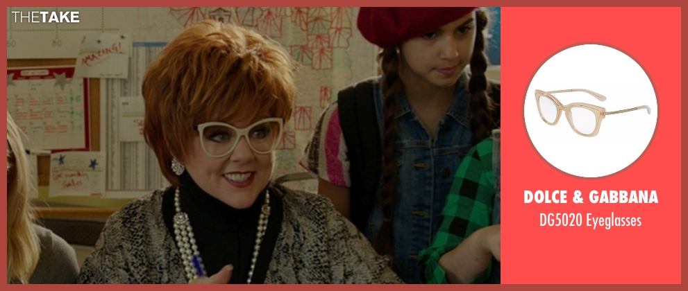 Dolce & Gabbana beige eyeglasses from The Boss seen with Melissa McCarthy (Michelle Darnell)
