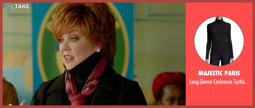 Majestic Paris black turtleneck from The Boss seen with Melissa McCarthy (Michelle Darnell)