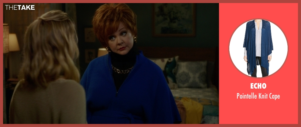Echo blue cape from The Boss seen with Melissa McCarthy (Michelle Darnell)