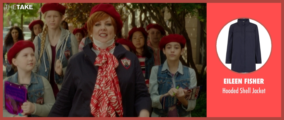 Eileen Fisher blue jacket from The Boss seen with Melissa McCarthy (Michelle Darnell)