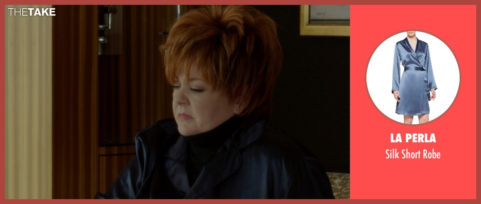 La Perla blue robe from The Boss seen with Melissa McCarthy (Michelle Darnell)