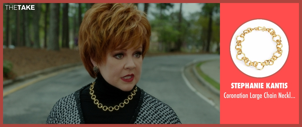 Stephanie Kantis gold necklace from The Boss seen with Melissa McCarthy (Michelle Darnell)