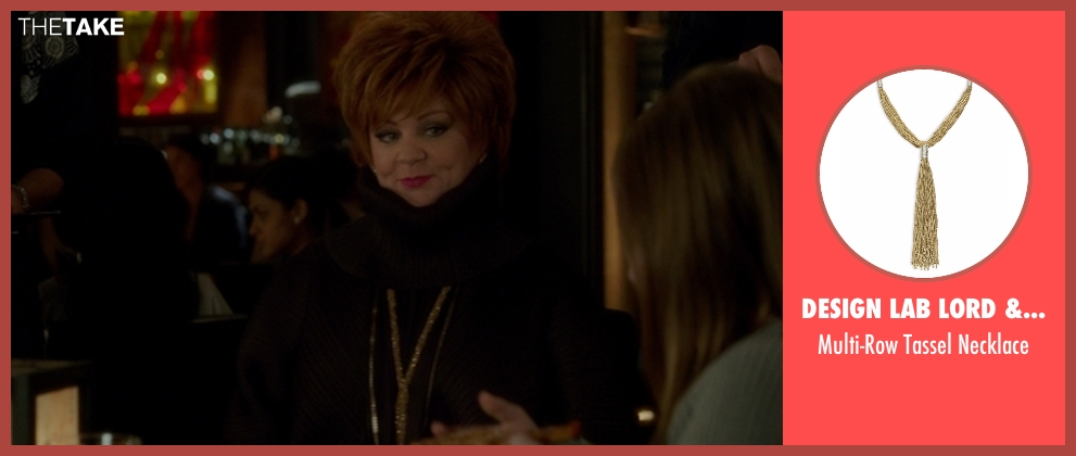 Design Lab Lord & Taylor gold necklace from The Boss seen with Melissa McCarthy (Michelle Darnell)