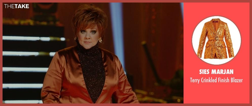 Altuzarra orange blazer from The Boss seen with Melissa McCarthy (Michelle Darnell)