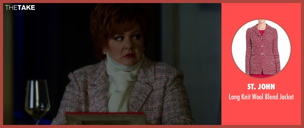 St. John pink jacket from The Boss seen with Melissa McCarthy (Michelle Darnell)