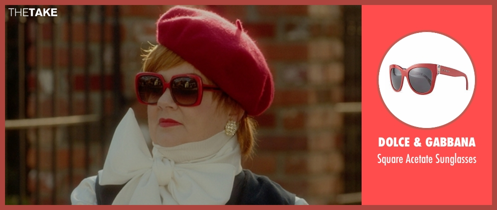 Dolce & Gabbana red sunglasses from The Boss seen with Melissa McCarthy (Michelle Darnell)