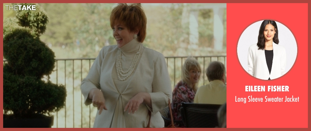 Eileen Fisher white jacket from The Boss seen with Melissa McCarthy (Michelle Darnell)