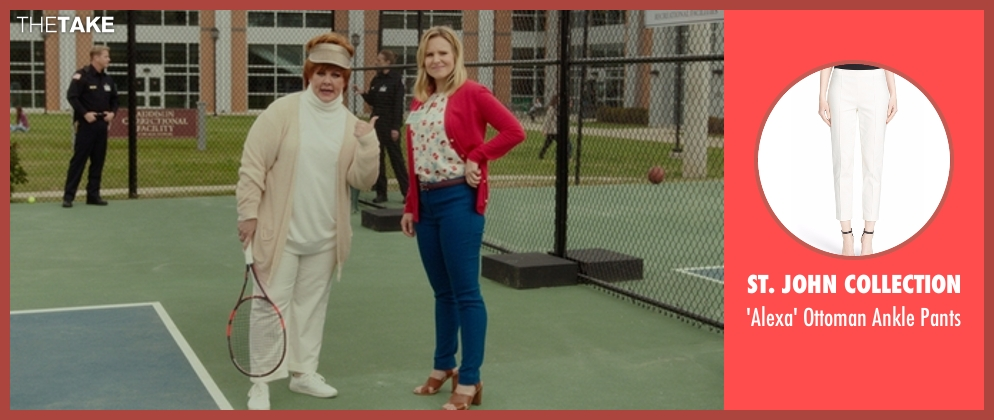 St. John Collection white pants from The Boss seen with Melissa McCarthy (Michelle Darnell)