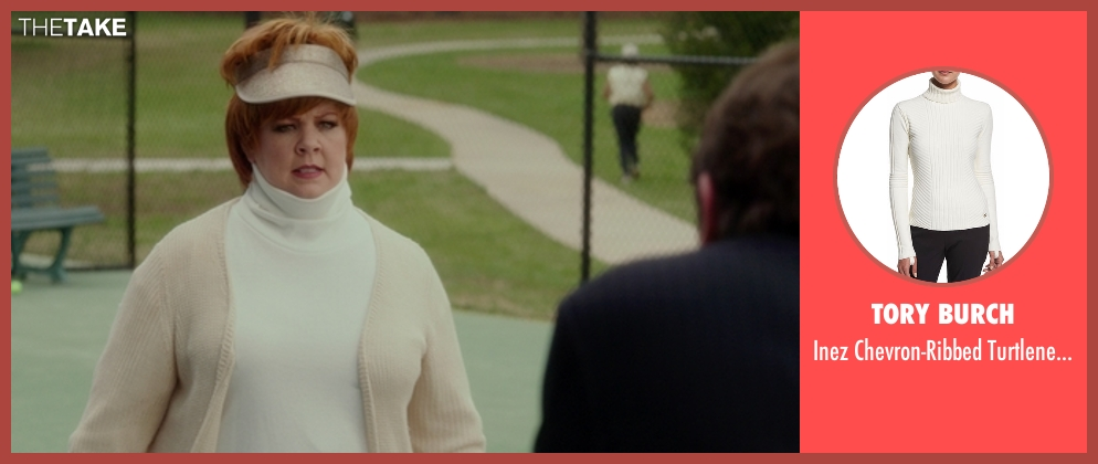 Tory Burch white sweater from The Boss seen with Melissa McCarthy (Michelle Darnell)