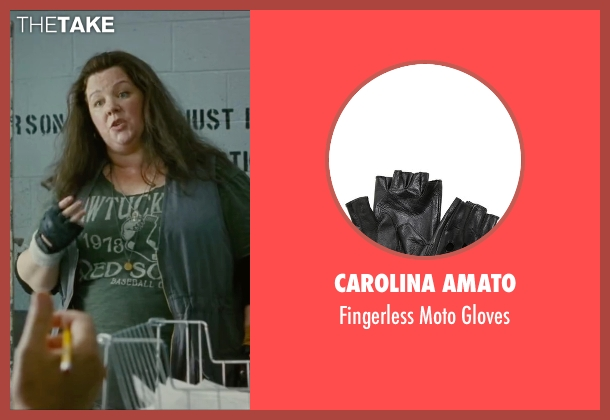 Carolina Amato black gloves from The Heat seen with Melissa McCarthy (Mullins)