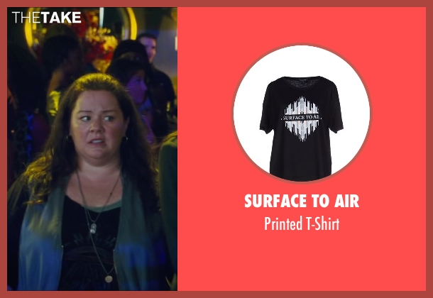 Surface To Air black t-shirt from The Heat seen with Melissa McCarthy (Mullins)