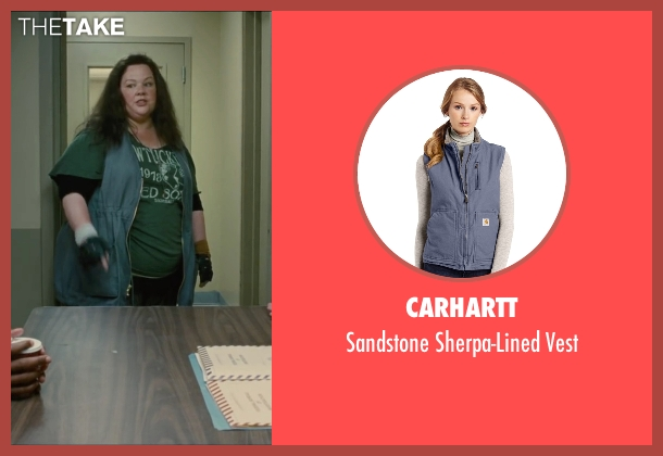 Carhartt blue vest from The Heat seen with Melissa McCarthy (Mullins)