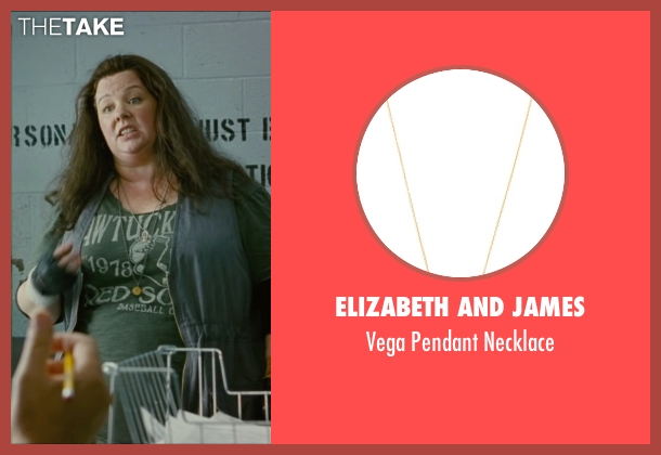 Elizabeth And James gold necklace from The Heat seen with Melissa McCarthy (Mullins)