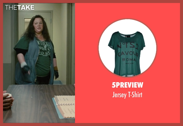 5preview green t-shirt from The Heat seen with Melissa McCarthy (Mullins)
