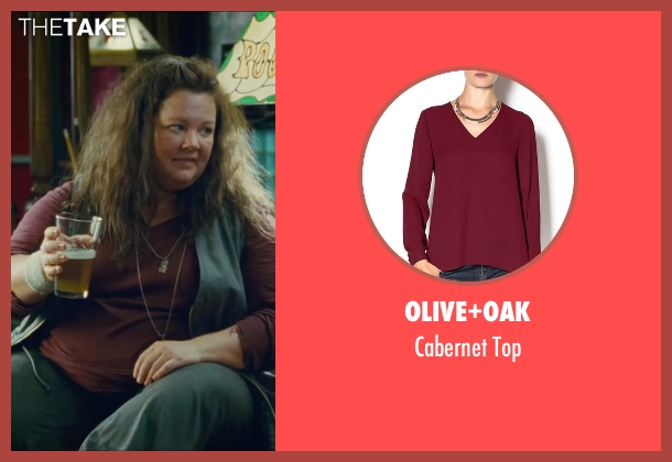 Olive+Oak red top from The Heat seen with Melissa McCarthy (Mullins)