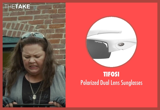 Tifosi white sunglasses from The Heat seen with Melissa McCarthy (Mullins)