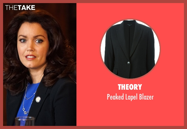 Theory black blazer from Scandal seen with Mellie Grant (Bellamy Young)
