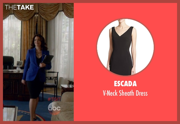 Escada black dress from Scandal seen with Mellie Grant (Bellamy Young)