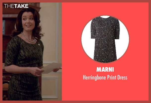 Marni black dress from Scandal seen with Mellie Grant (Bellamy Young)