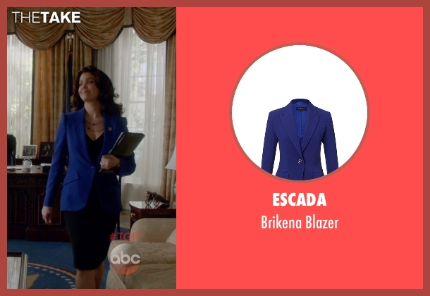 Escada blue blazer from Scandal seen with Mellie Grant (Bellamy Young)