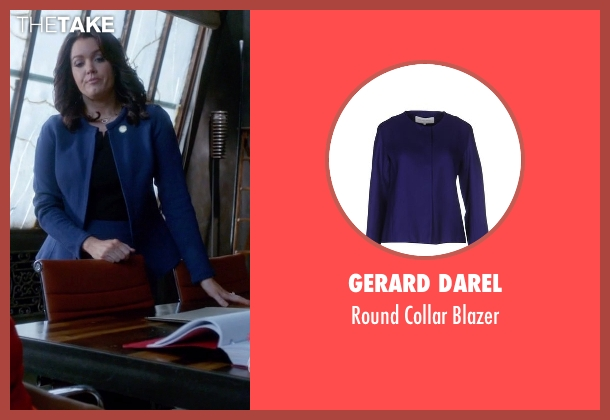 Gerard Darel blue blazer from Scandal seen with Mellie Grant (Bellamy Young)