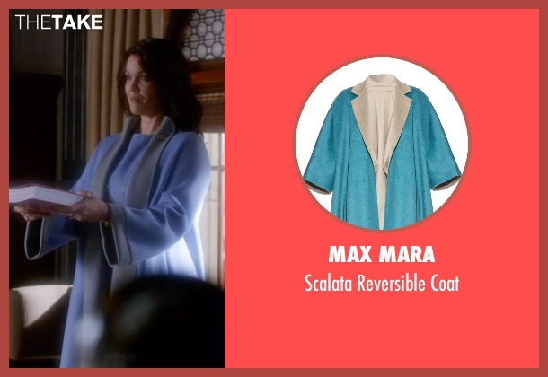 Max Mara  blue coat from Scandal seen with Mellie Grant (Bellamy Young)