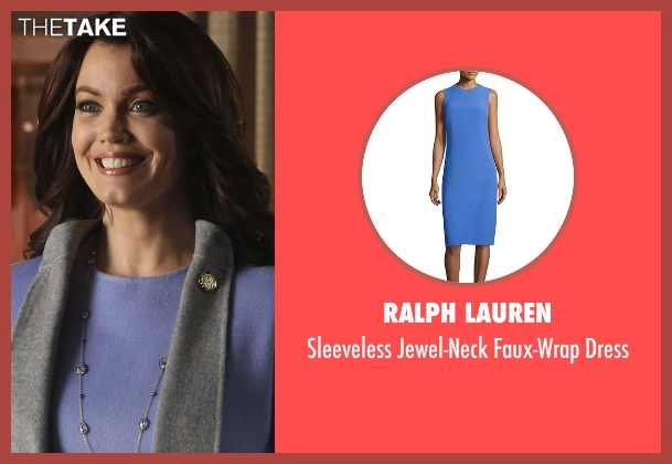 Ralph Lauren blue dress from Scandal seen with Mellie Grant (Bellamy Young)