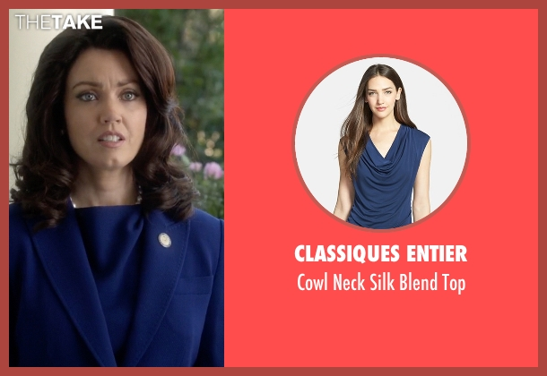 Classiques Entier blue top from Scandal seen with Mellie Grant (Bellamy Young)