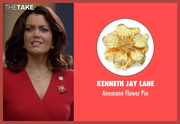 Kenneth Jay Lane gold pin from Scandal seen with Mellie Grant (Bellamy Young)