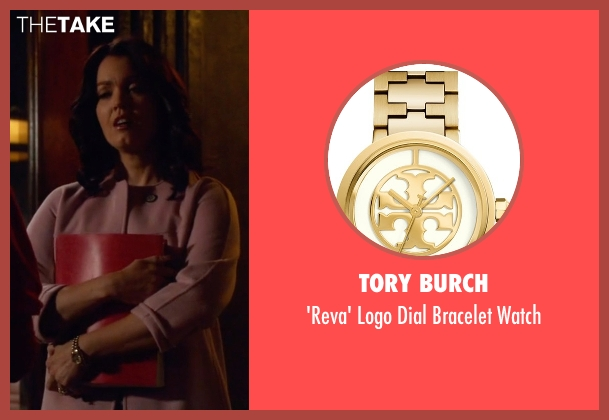 Tory Burch gold watch from Scandal seen with Mellie Grant (Bellamy Young)