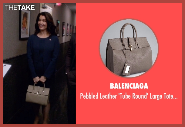 Balenciaga gray bag from Scandal seen with Mellie Grant (Bellamy Young)