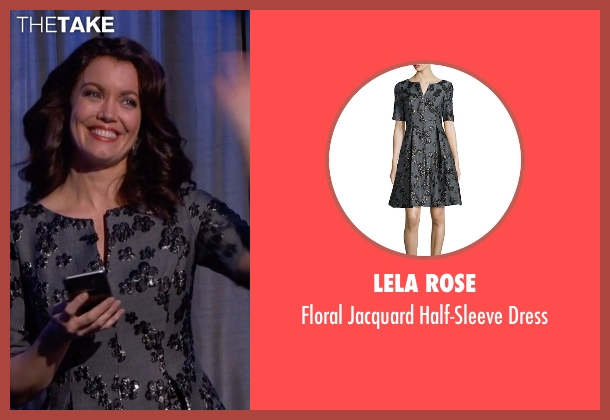 Lela Rose gray dress from Scandal seen with Mellie Grant (Bellamy Young)