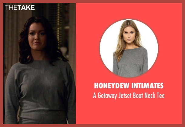 Honeydew Intimates  gray tee from Scandal seen with Mellie Grant (Bellamy Young)