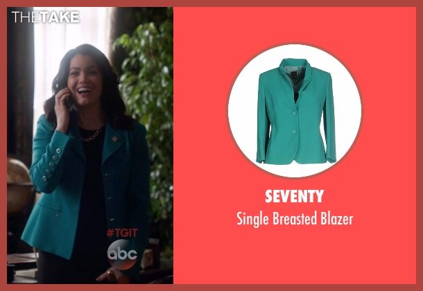 Seventy green blazer from Scandal seen with Mellie Grant (Bellamy Young)