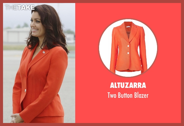 Altuzarra orange blazer from Scandal seen with Mellie Grant (Bellamy Young)