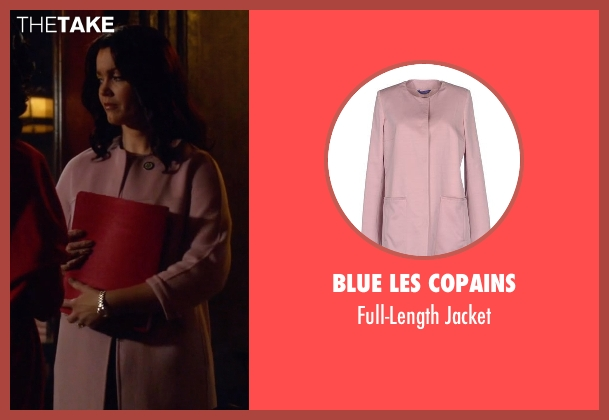Blue Les Copains pink jacket from Scandal seen with Mellie Grant (Bellamy Young)