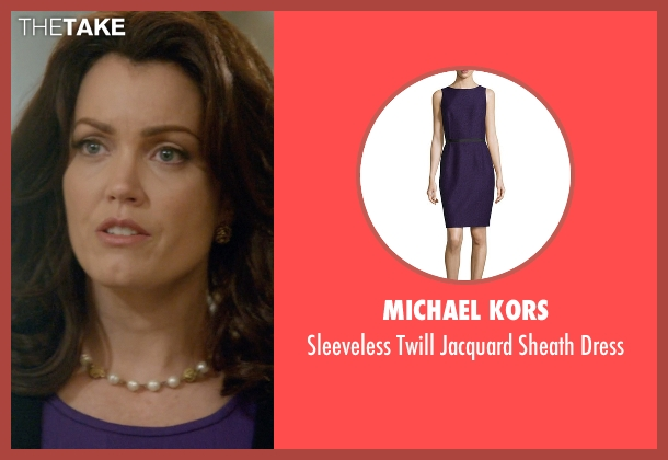 Michael Kors purple dress from Scandal seen with Mellie Grant (Bellamy Young)