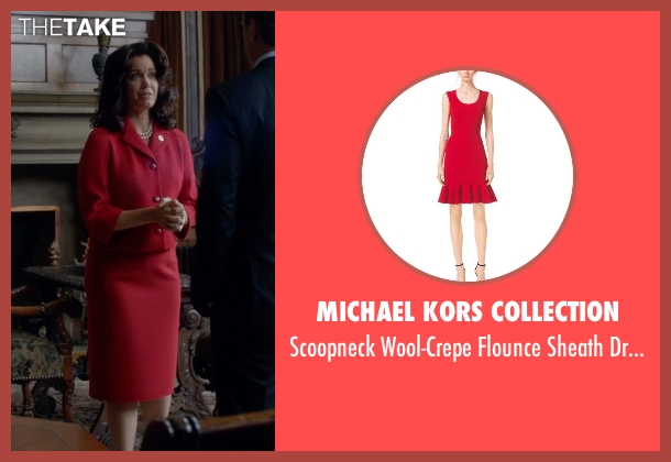 Michael Kors Collection red dress from Scandal seen with Mellie Grant (Bellamy Young)