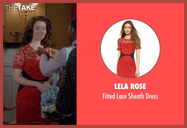 Lela Rose red dress from Scandal seen with Mellie Grant (Bellamy Young)