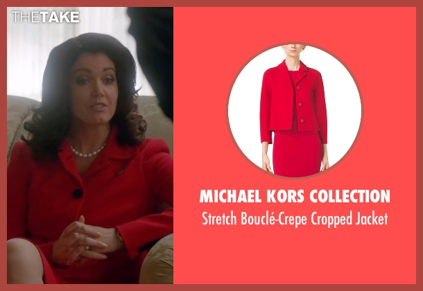 Michael Kors Collection red jacket from Scandal seen with Mellie Grant (Bellamy Young)