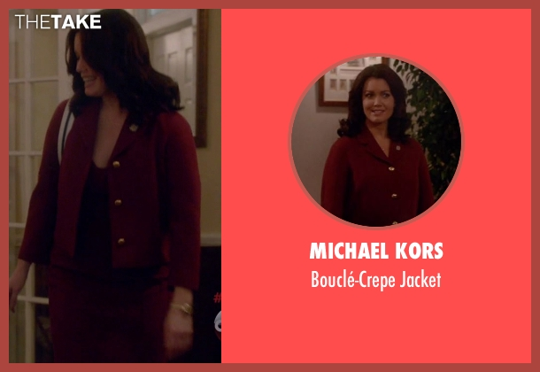 Michael Kors red jacket from Scandal seen with Mellie Grant (Bellamy Young)