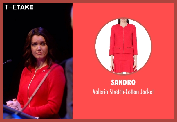 Sandro red jacket from Scandal seen with Mellie Grant (Bellamy Young)
