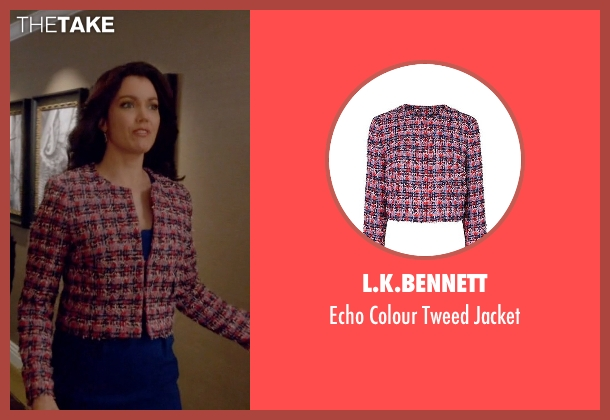 L.K.Bennett red jacket from Scandal seen with Mellie Grant (Bellamy Young)
